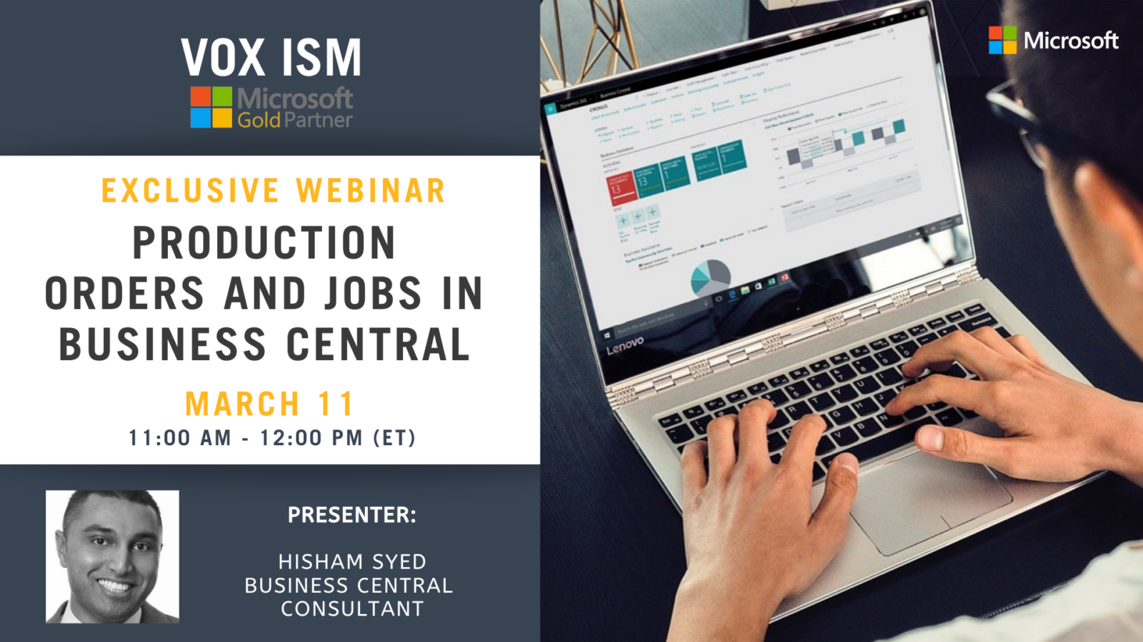 Production Orders and Jobs in Business Central - March 11 - Webinar