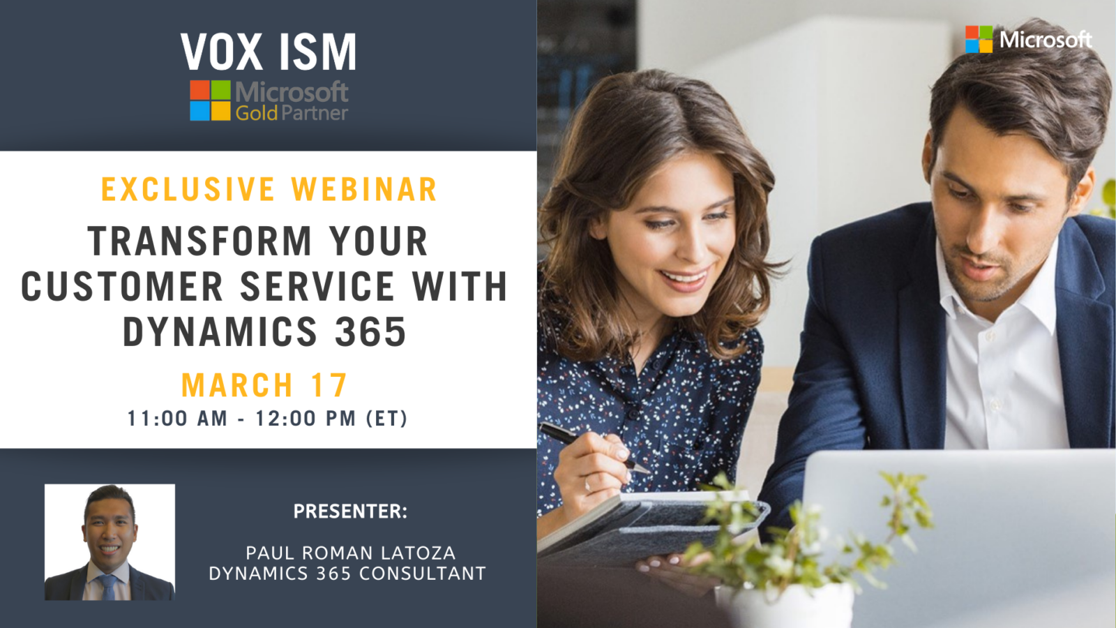 Transform Your Customer Service With Dynamics 365 - March 17 - Webinar