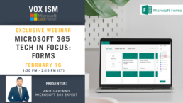 Microsoft 365 Tech in Focus - Forms - February 16 - Webinar