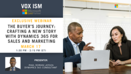 The buyer's journey: Crafting a new story with Dynamics 365 for Sales and Marketing - March 17 - Webinar