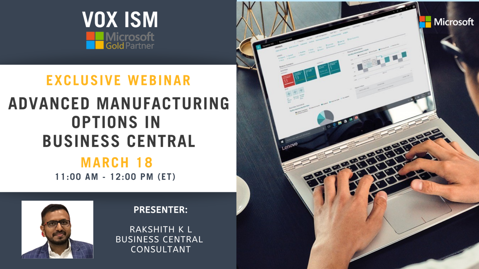 Advanced Manufacturing Options in Business Central - March 18 - Webinar