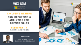 CRM Reporting & Analytics for Driving Sales - February 17 - Webinar