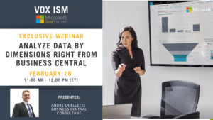 Analyze Data by Dimensions Right from Business Central - February 18 - Webinar