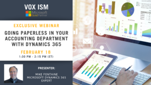 Going paperless in your accounting department with Dynamics 365 - February 18 - Webinar