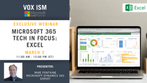 Microsoft 365 Tech in Focus - Excel - March 2 - Webinar