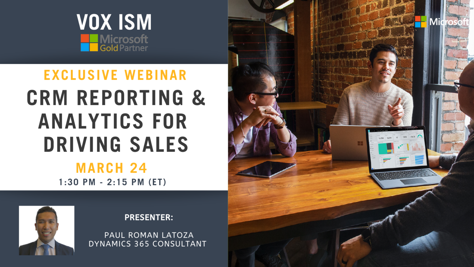 CRM Reporting & Analytics for Driving Sales - March 24 - Webinar