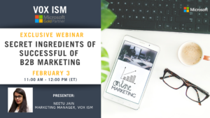 Secrets Ingredients of Successful of B2B Marketing - February 3 - Webinar