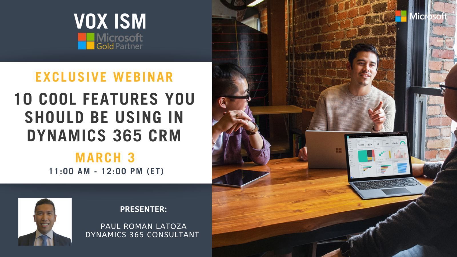 10 Cool Features You Should be Using in Dynamics 365 CRM - March 3 - Webinar