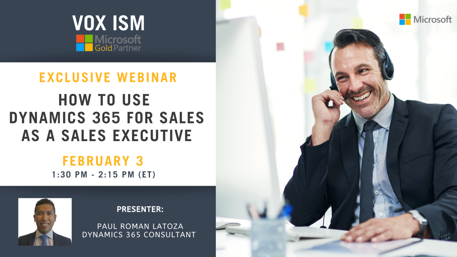 How To Use Dynamics 365 for Sales As A Sales Executive - February 3 - Webinar