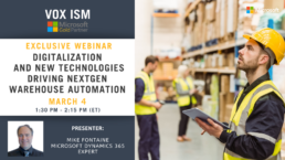Digitalization and New Technologies Driving NexGen Warehouse Automation - March 4 - Webinar