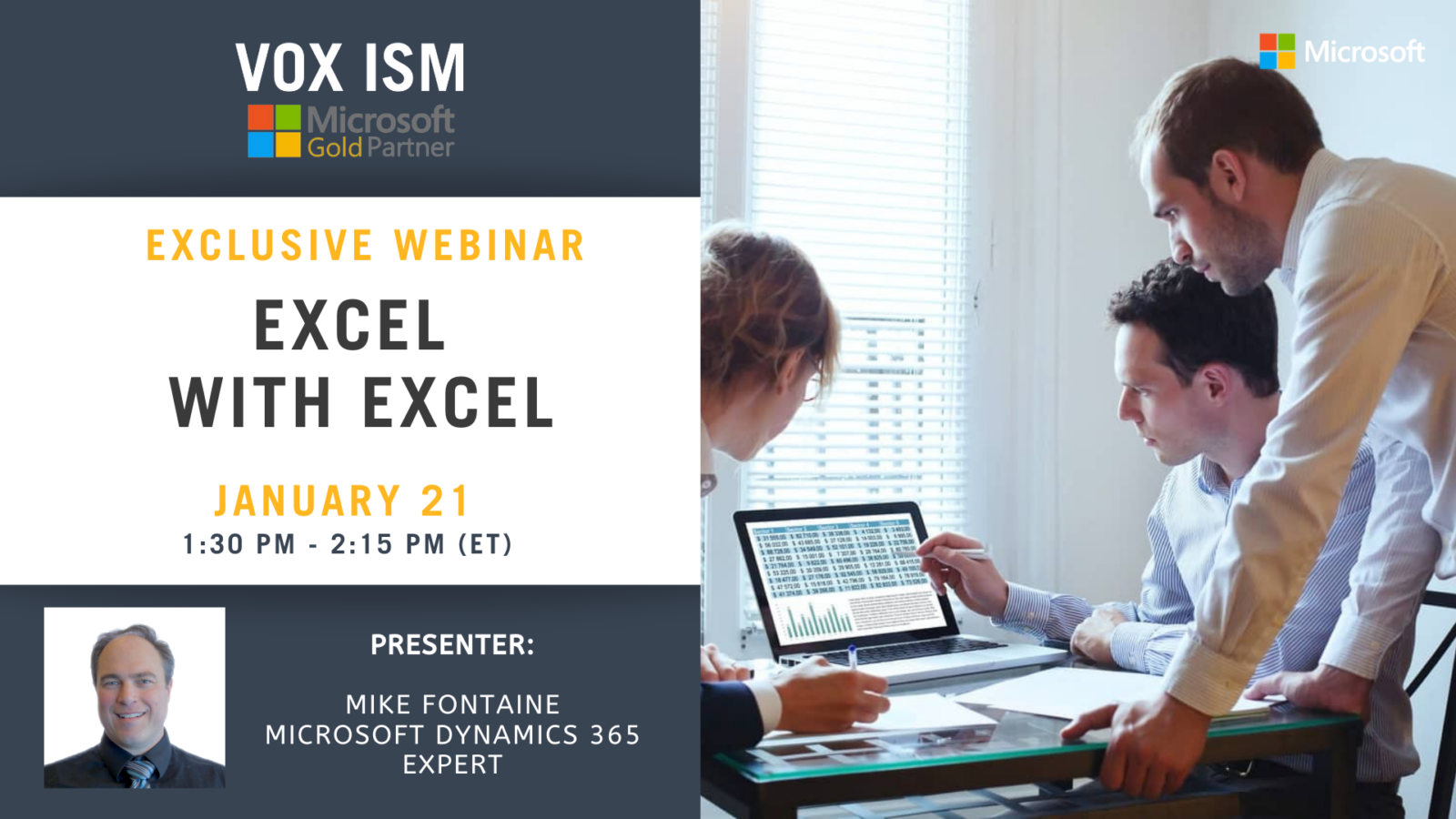 Excel with Excel - January 21 - Webinar