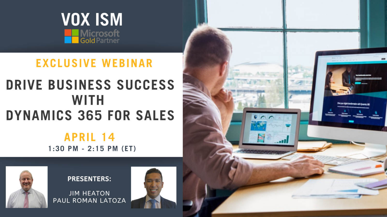 Drive Business Success with Dynamics 365 for Sales - April 14 - Webinar