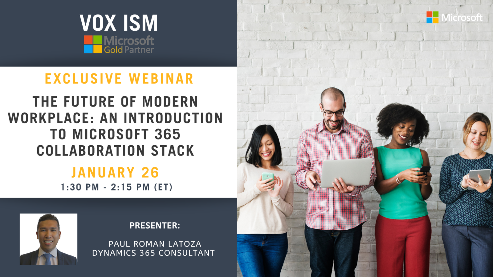 The Future of Modern Workplace: An Introduction to Microsoft 365 Collaboration Stack - January 26 - Webinar