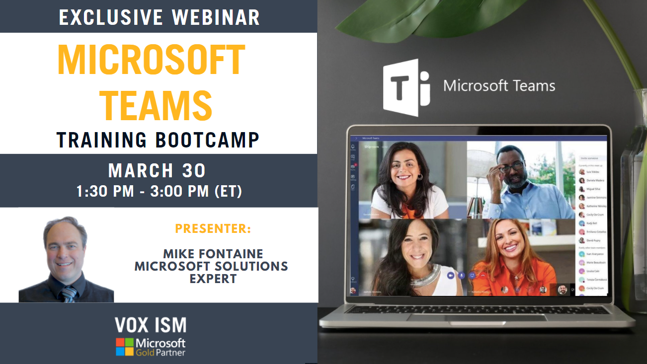 Microsoft Teams: Training Bootcamp - March 30 - Webinar