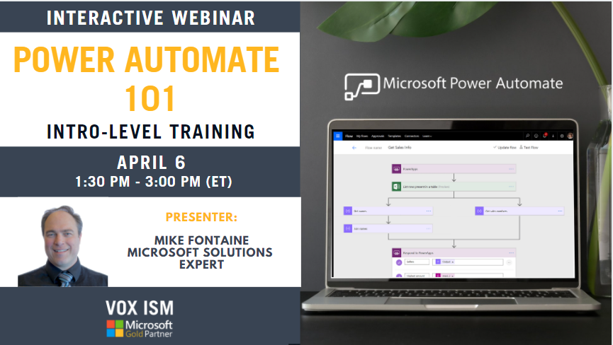 Power Automate 101 - Intro Level - April 6 - Webinar