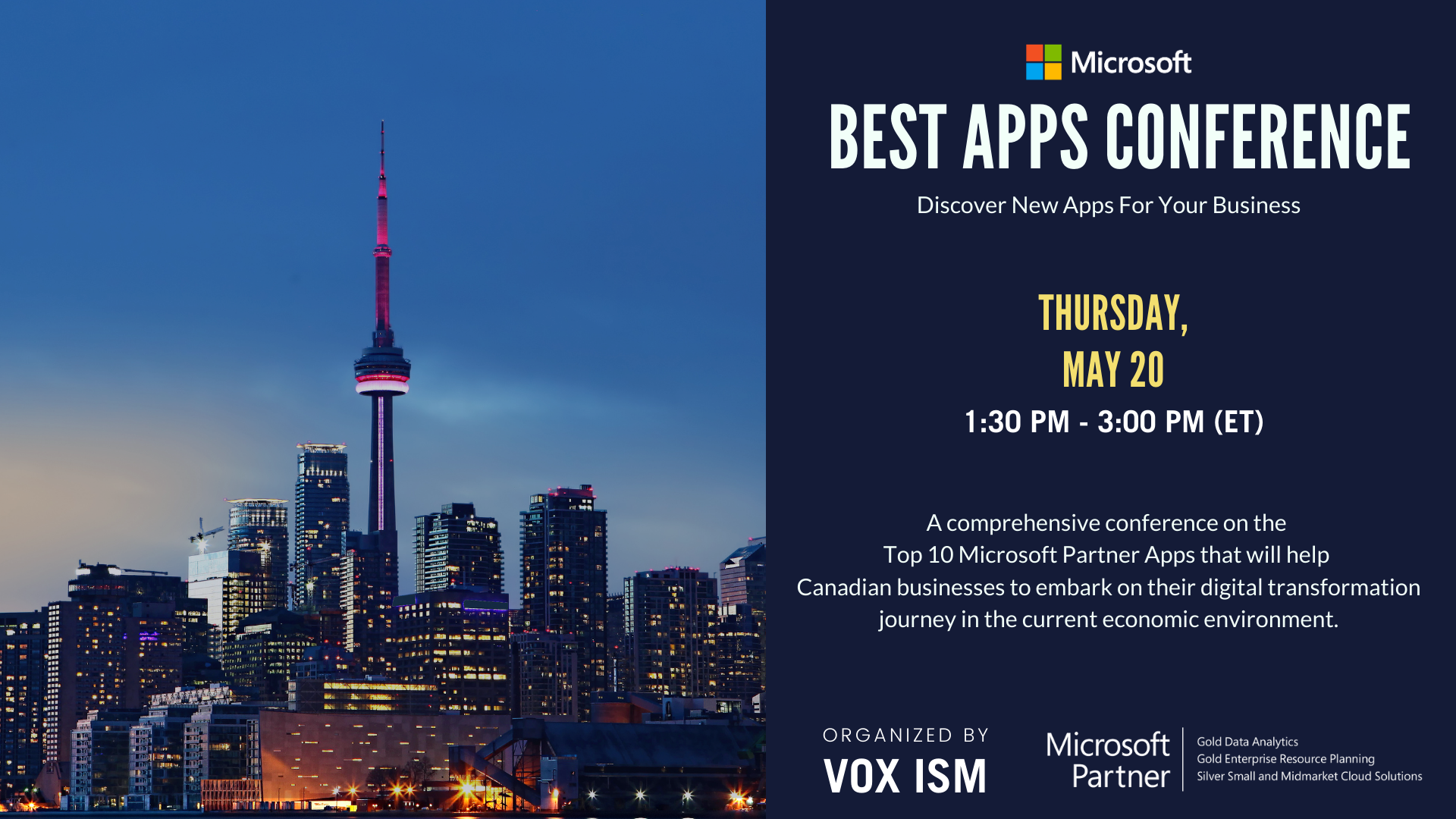 Microsoft Best Apps Conference - VOX ISM