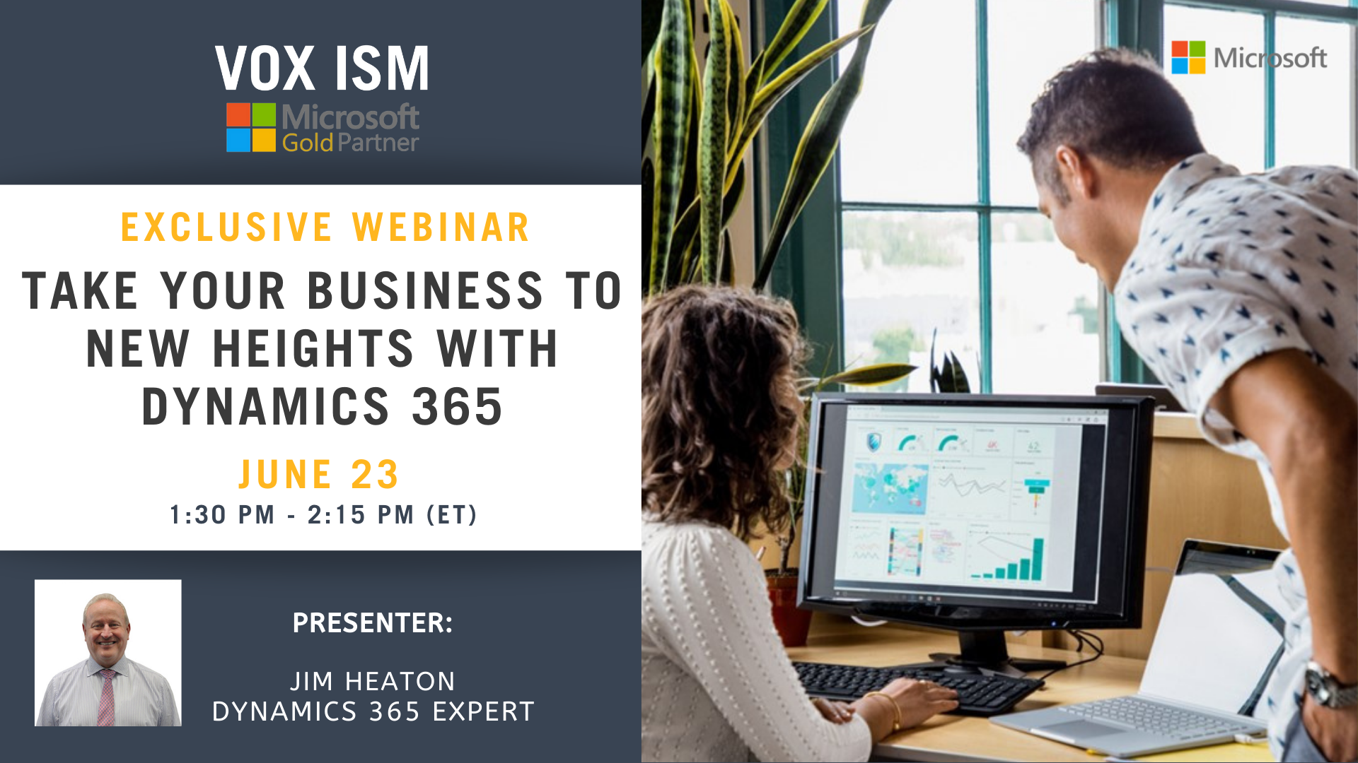 Take your business to new heights with Dynamics 365 - June 23 - Webinar - VOX ISM