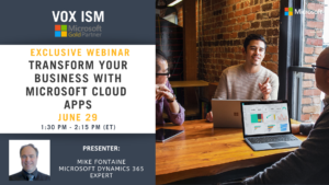 Transform your business with Microsoft Cloud Apps - June 29 - Webinar