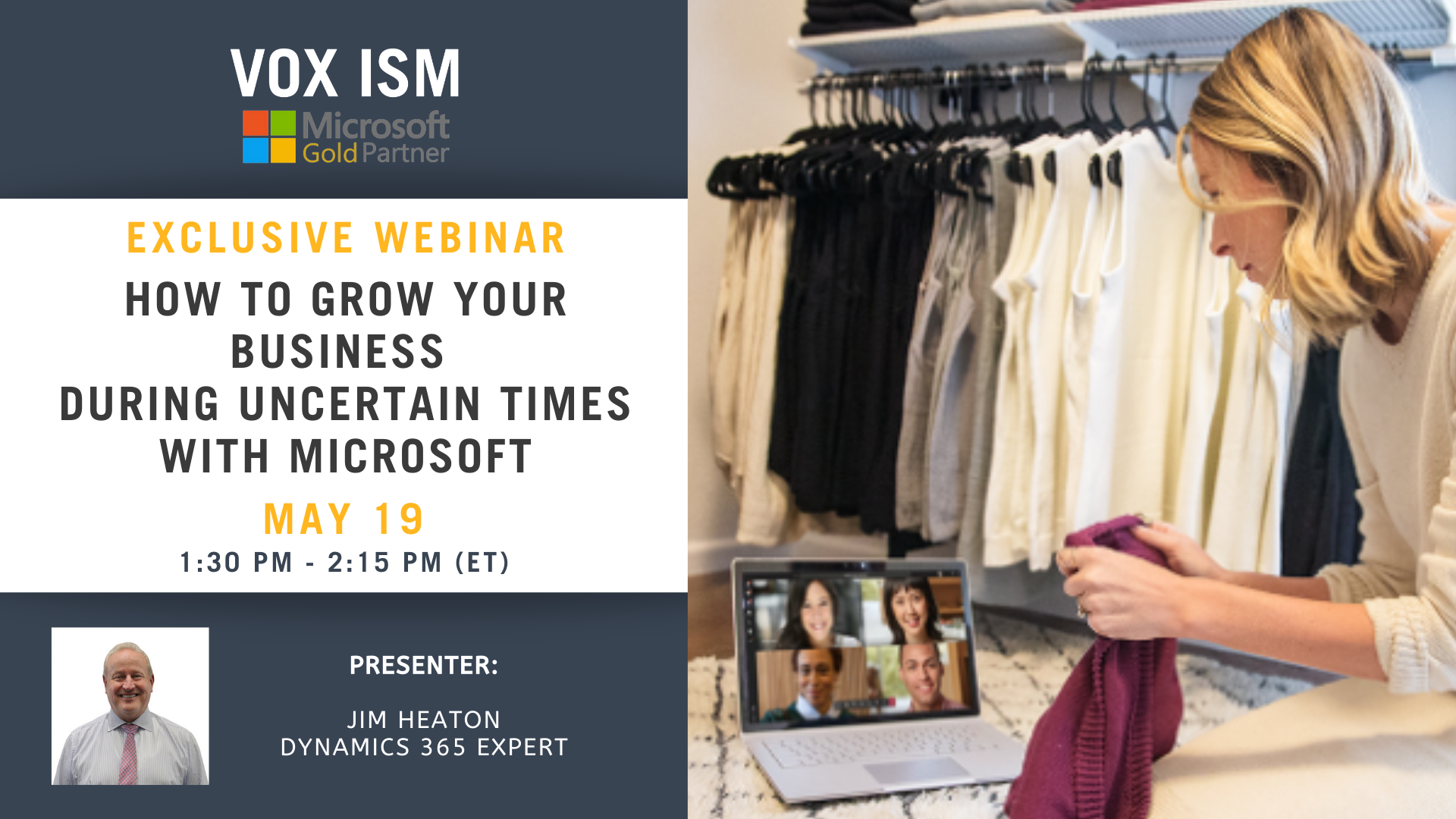 How to Grow Your Business During Uncertain Times with Microsoft - May 19 - Webinar