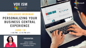 Personalizing your Business Central Experience - June 10 - Webinar