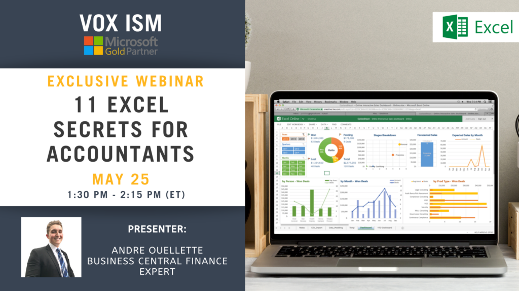 11 Excel Secrets for Accountants - May 25 - Webinar