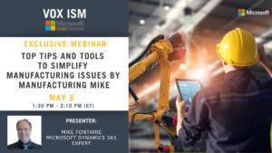 Top Tips and Tools to Simplify Manufacturing Issues by Manufacturing Mike - May 6 - Webinar