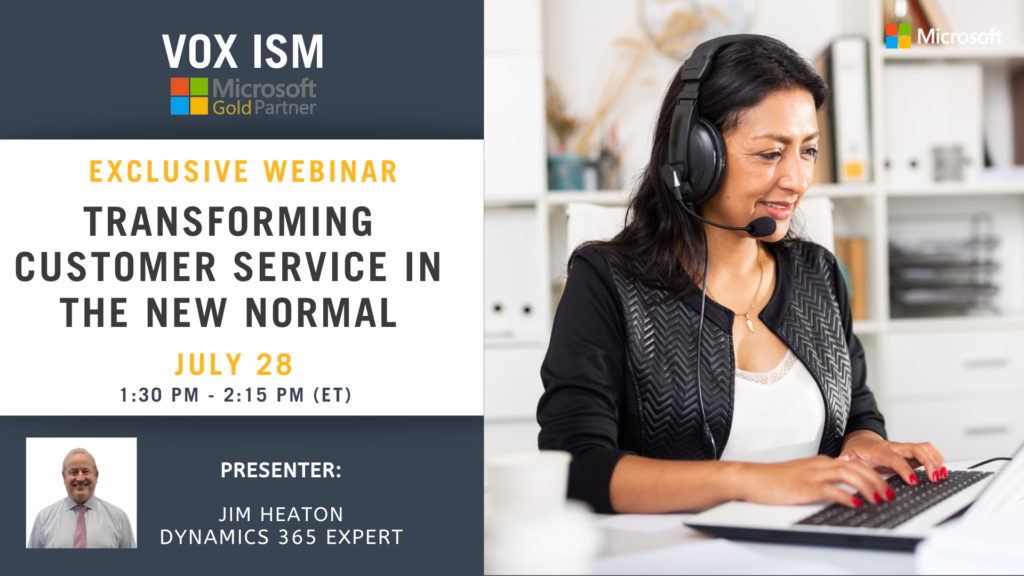 Transforming Customer Service in the New Normal - July 28 - Webinar