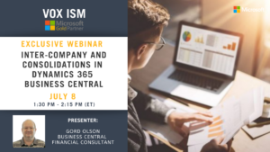 Inter-Company and Consolidations in Dynamics 365 Business Central - July 8 - Webinar