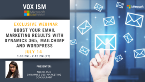 Boost your email marketing results with Dynamics 365, MailChimp and WordPress - July 14 - Webinar