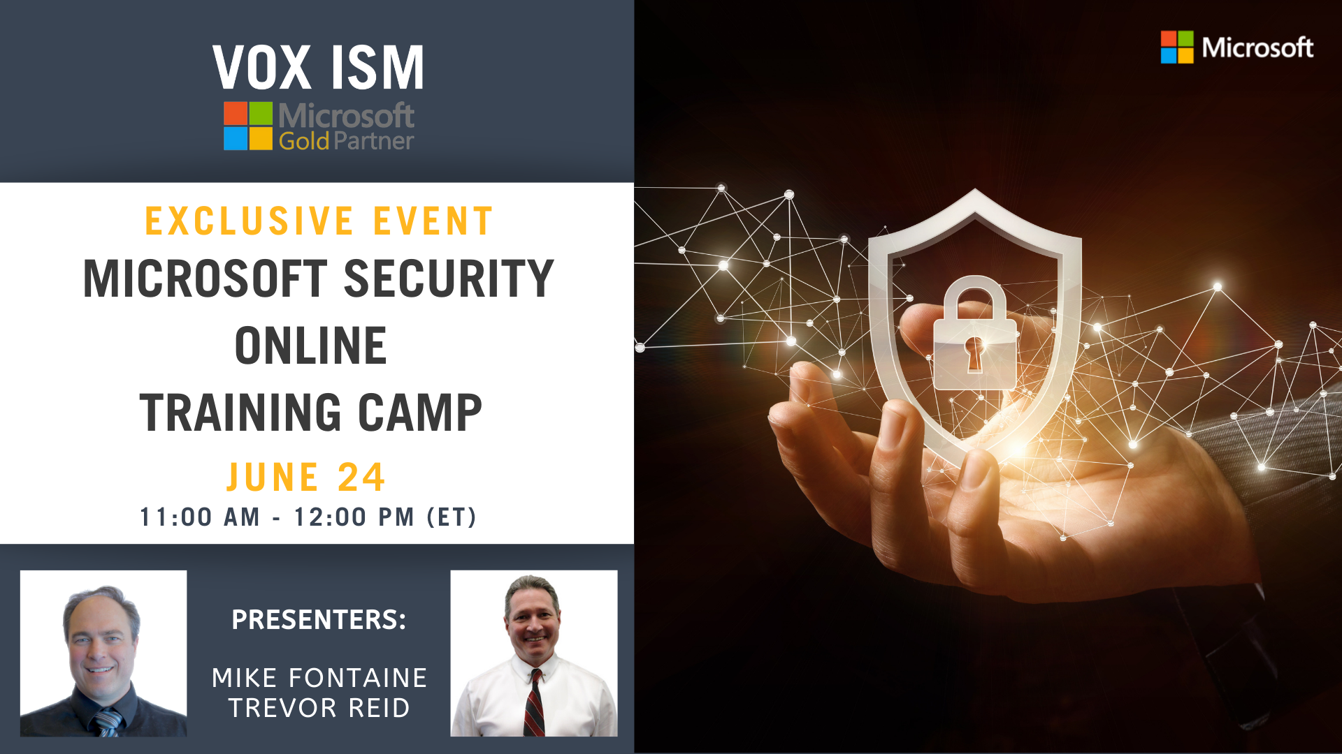 Microsoft Security Online Training Camp - July 24