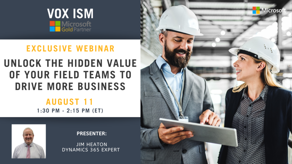 Unlock the hidden value of your field teams to drive more business - August 11 - Webinar
