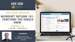 Microsoft Outlook 101 - Functions you should know - August 24 - Webinar
