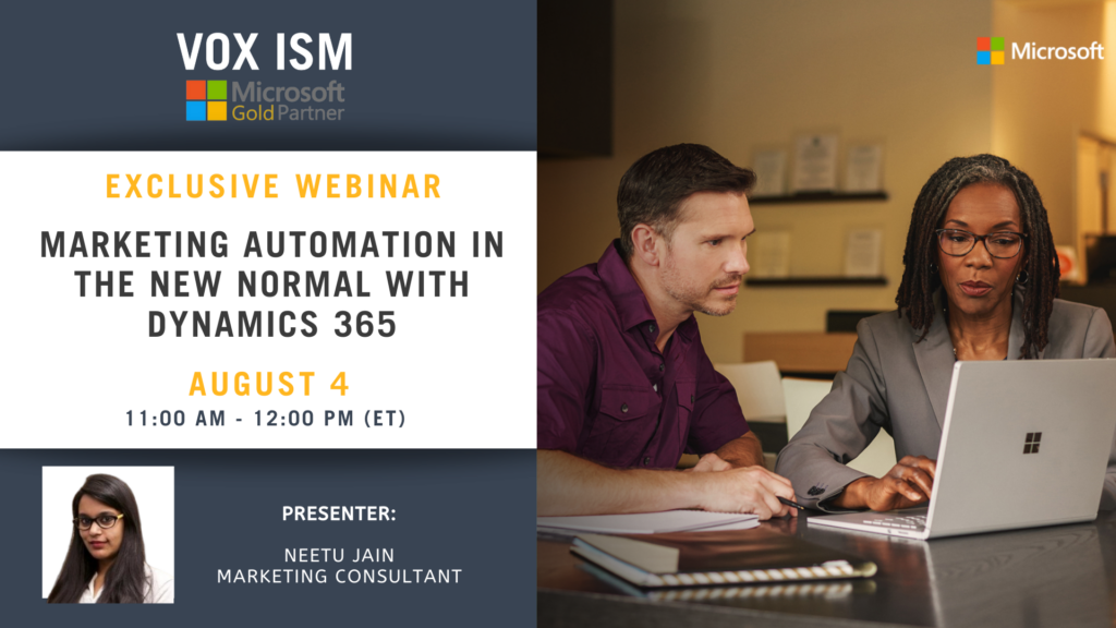 """Marketing Automation in the """"New Normal"""" with Dynamics 365 - August 4 - Webinar"""