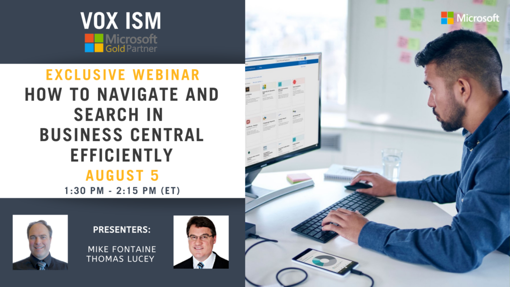 How to navigate and search in Business Central efficiently - August 5 - Webinar