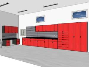 KMA Storage Solutions Garage Organization Rendering Design