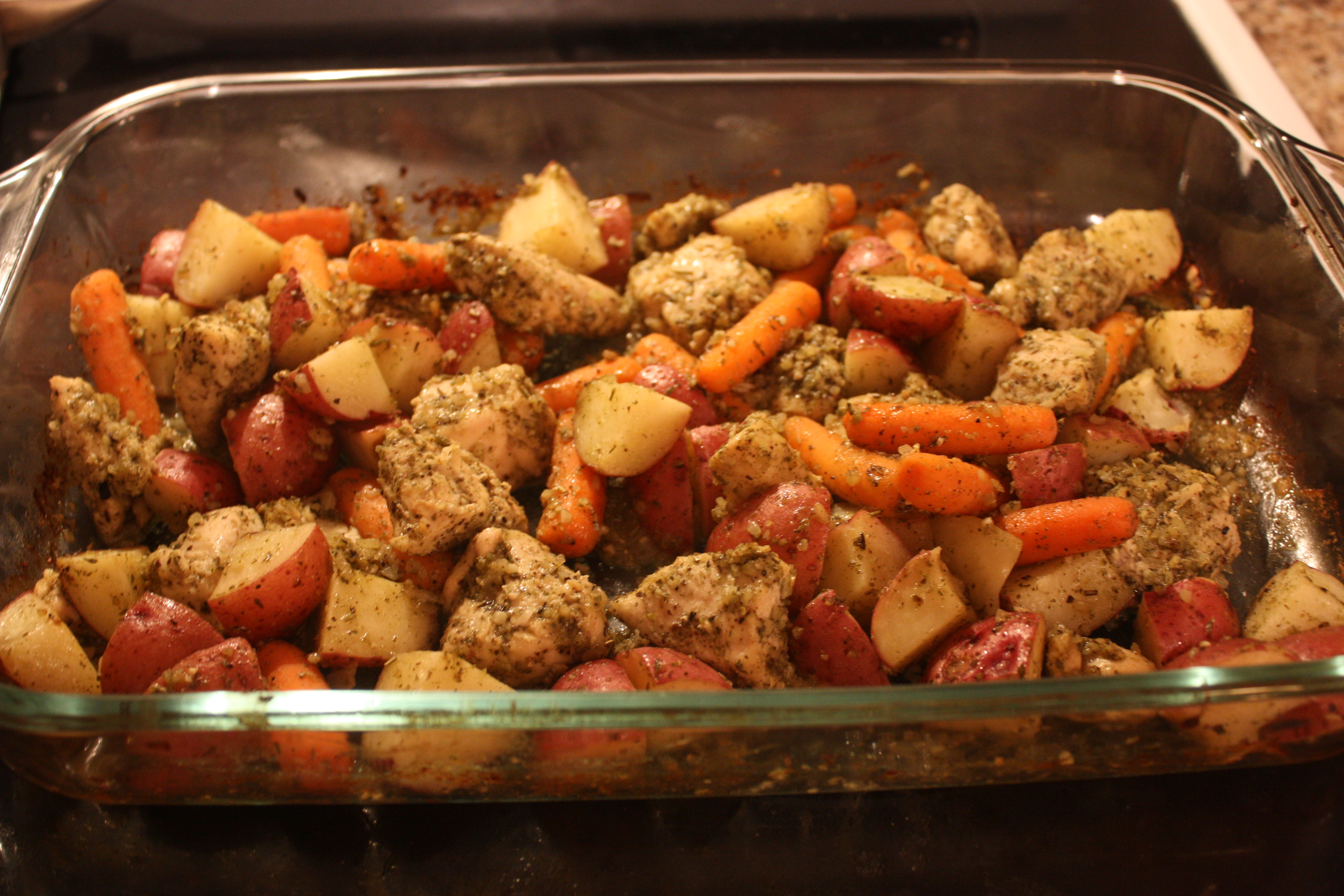 Baked Chicken and Veggies