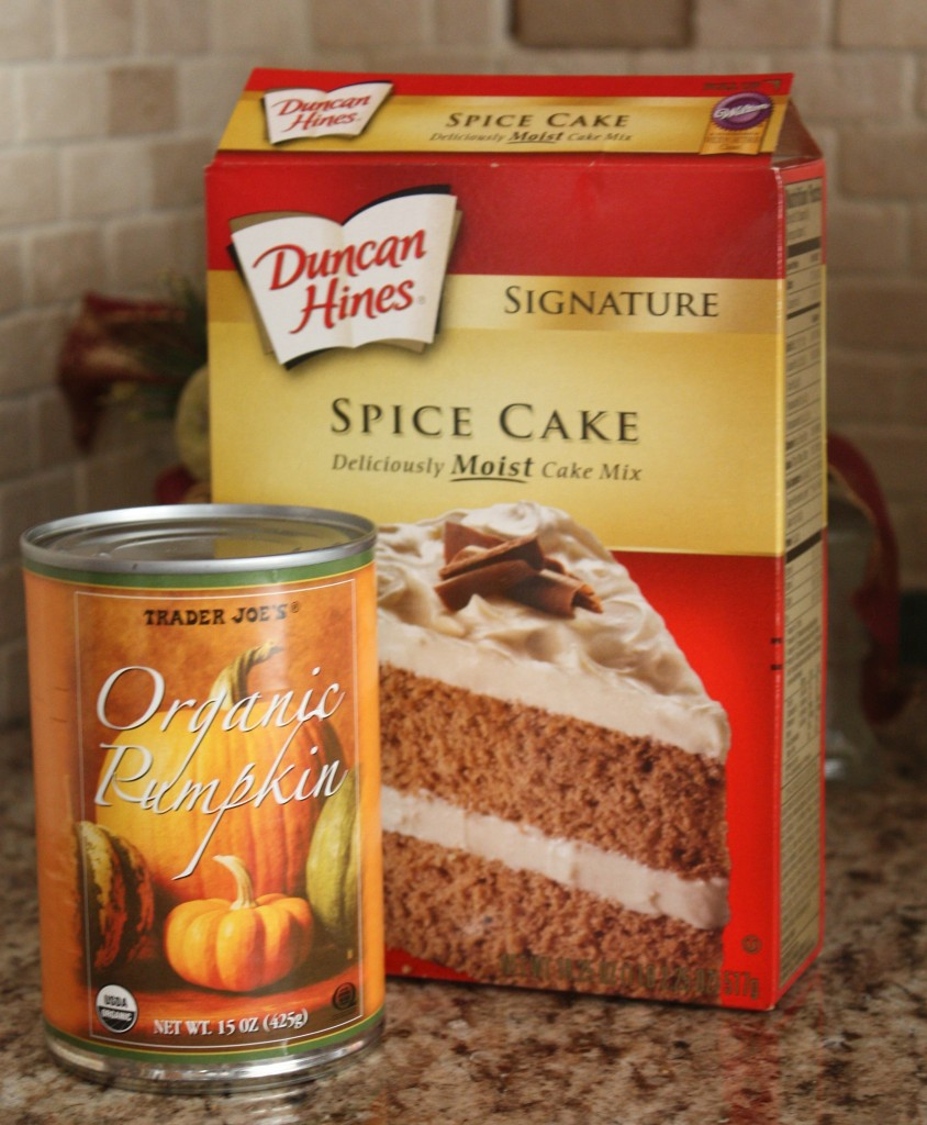 Easy Pumpkin Cupcake Ingredients