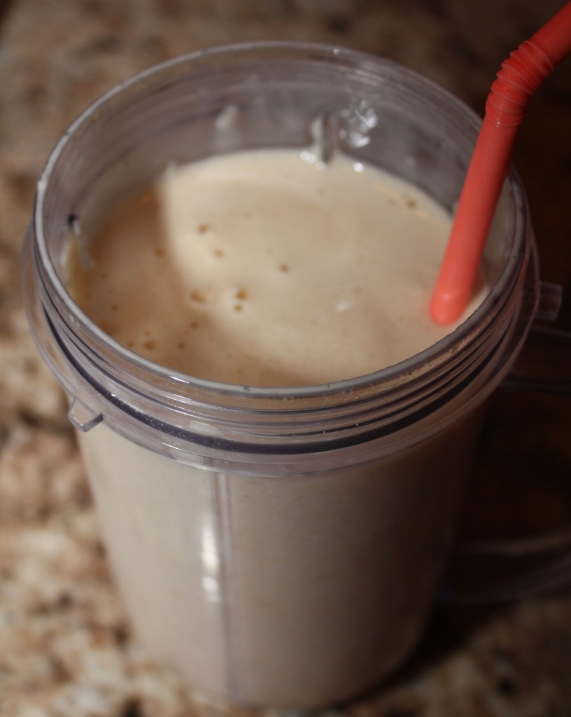 Peanut Butter Protein Shake - with straw