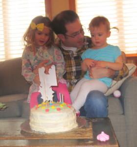 Girls with Steve birthday 2013 2
