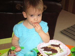 Oh how Bella loves to eat!