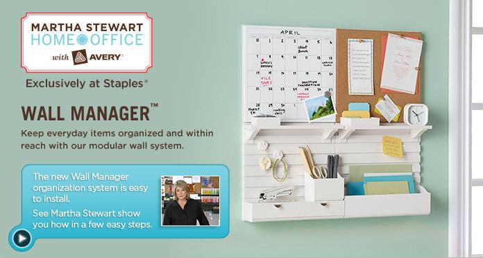 wall organizer - martha stewart