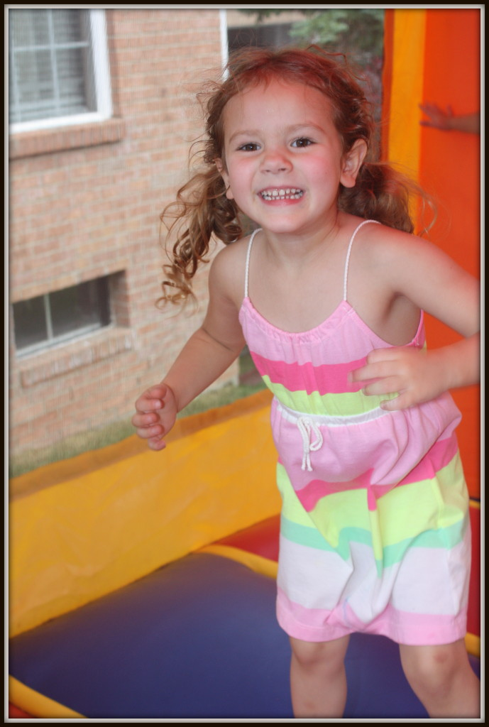Birthday Party 2013 - bounce house sophia 1