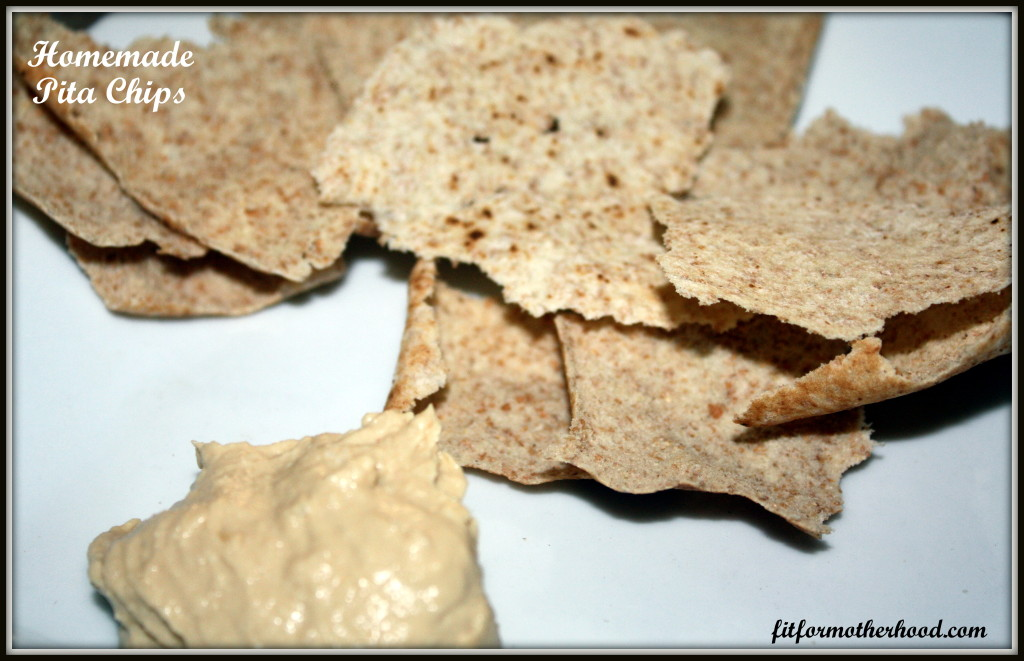 WIAW - Pita chips and hummus