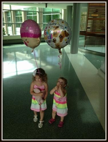 Sophia and Bella balloons