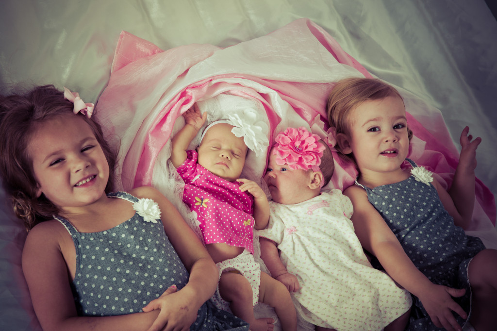The four girls 2 months
