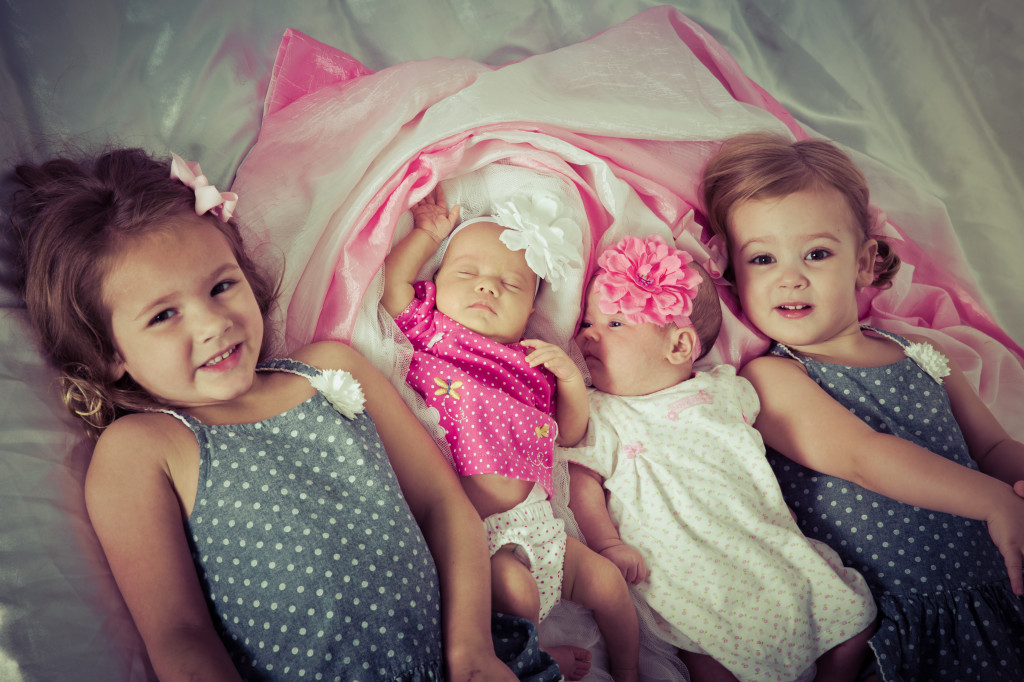 The four girls 2 months 2