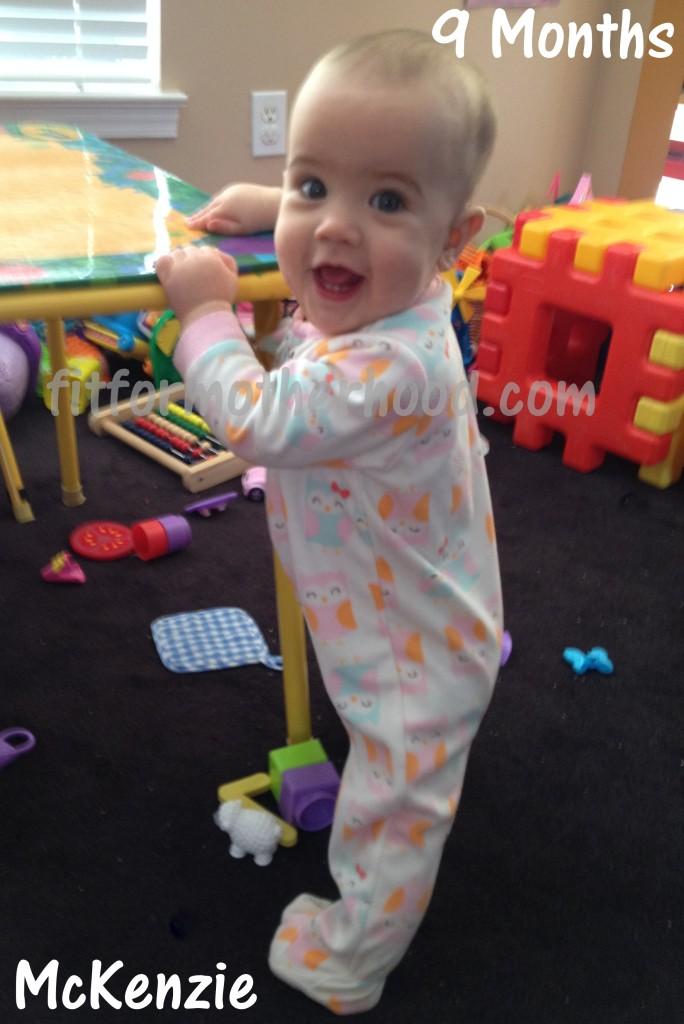 9 months - mckenzie standing