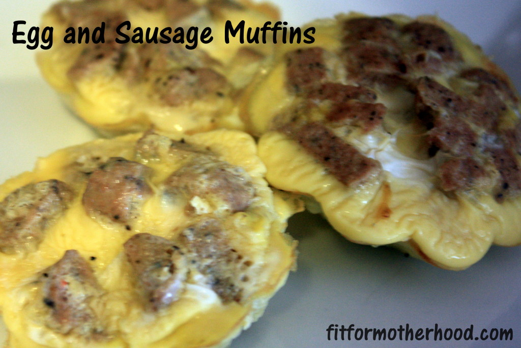 wiaw - egg and sausage muffins
