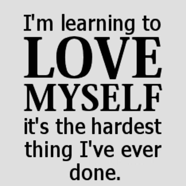learn to love myself