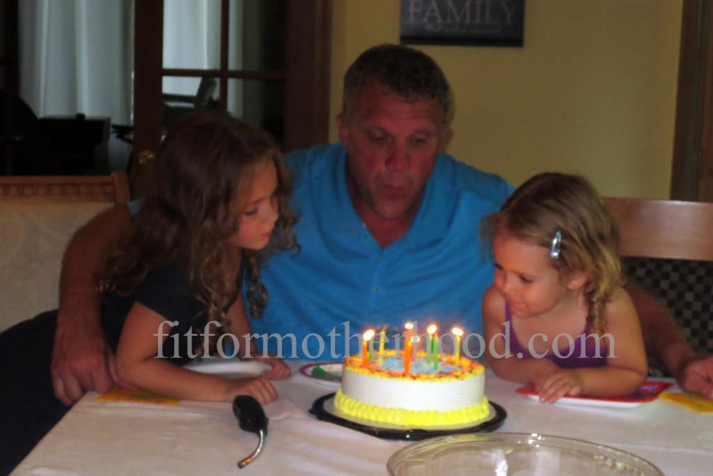 mimm - papa's birthday papa isabella sophia blowing out candles